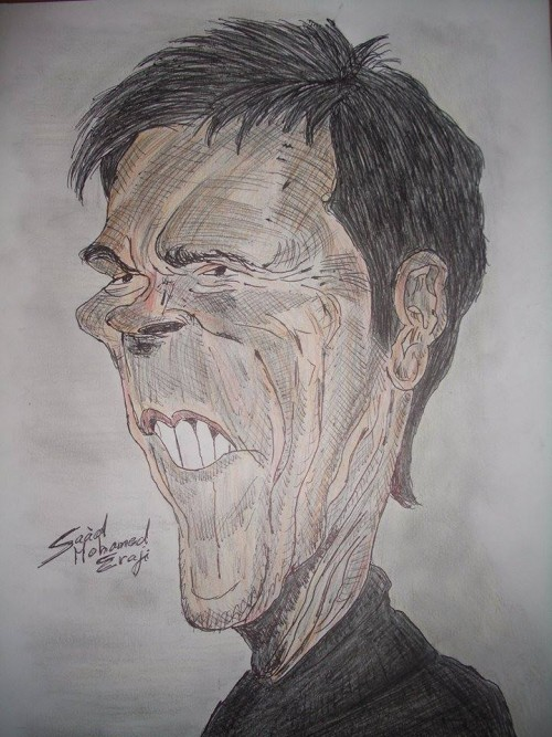 Caricature of Kevin Bacon