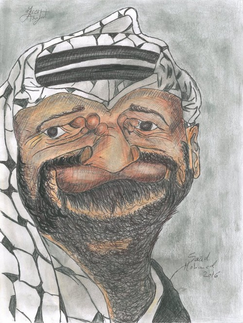 Caricature of Arafat / Mohammed Yasser Abdel Rahman Abdel Raouf Arafat al-Qudwa, popularly known as Yasser Arafat or by his kunya Abu Ammar, was a Palestinian political leader. He was Chairman of the Palestine Liberation Organization (PLO) from 1969 to 2004 and President of the Palestinian National Authority (PNA) from 1994 to 2004. Ideologically an Arab nationalist, he was a founding member of the Fatah political party, which he led from 1959 until 2004.