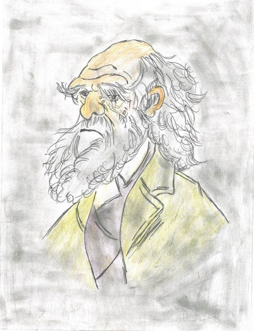 Caricature of Charlie Drawine