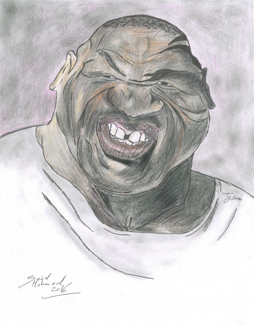 This is a caricature of Tyson