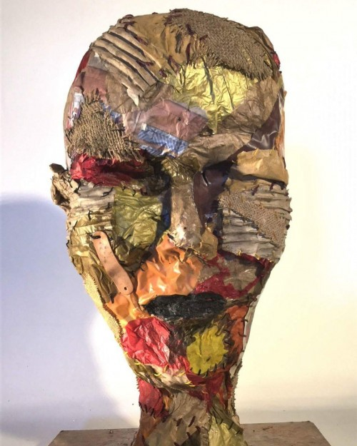 Paper and glu/leather and textile circa 55 cm